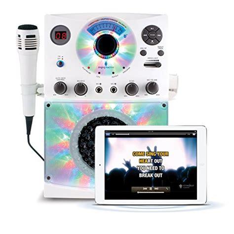 singing machine bluetooth karaoke system with disco lights singing machine sml385btw top loading cdg karaoke system