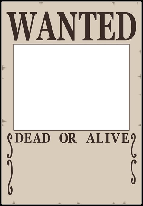 Blank Wanted Poster Template The Letter Sle Wanted Poster Psd