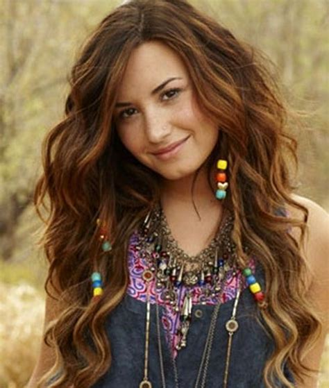 bead hair demi lovato hairstyle with beaded braids casual