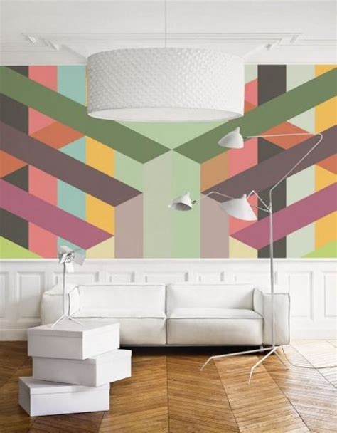modern wall mural creative wall murals prints and modern wallpaper in muted colors for fresh interior decorating
