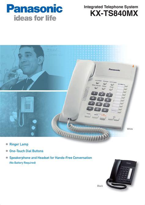Telephone Single Line Panasonic Kx Ts820mx Asli Dan Bergaransi kx ts840mx panasonic sp phone