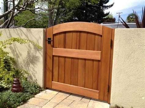 outside gates signature wooden garden gate traditional home fencing and gates orange county