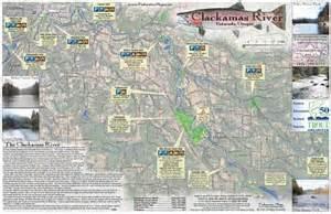 oregon river maps and fishing guide clackamas river estacada or fly fishing map