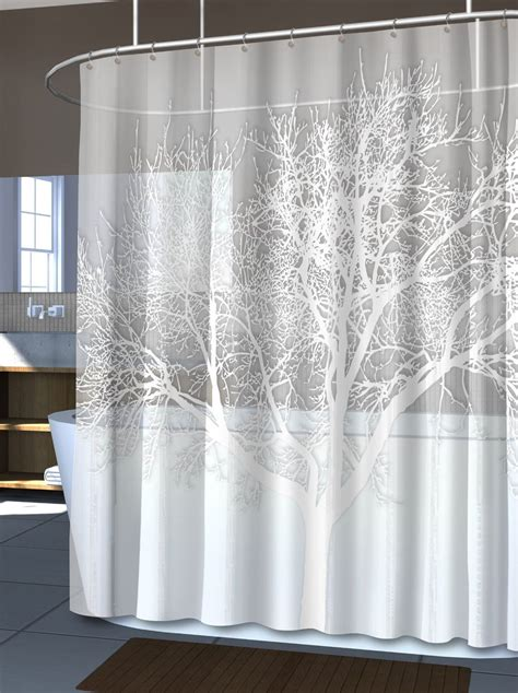 Shower Curtains With Trees New Pearl White Home Tree Vinyl Shower Curtain Modern Bathroom Bath Free Ship Ebay