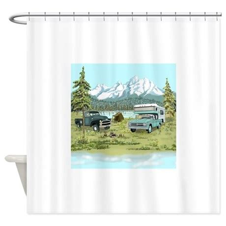 shower curtain for travel trailer rv vintage travel trailers shower curtain by salzanos