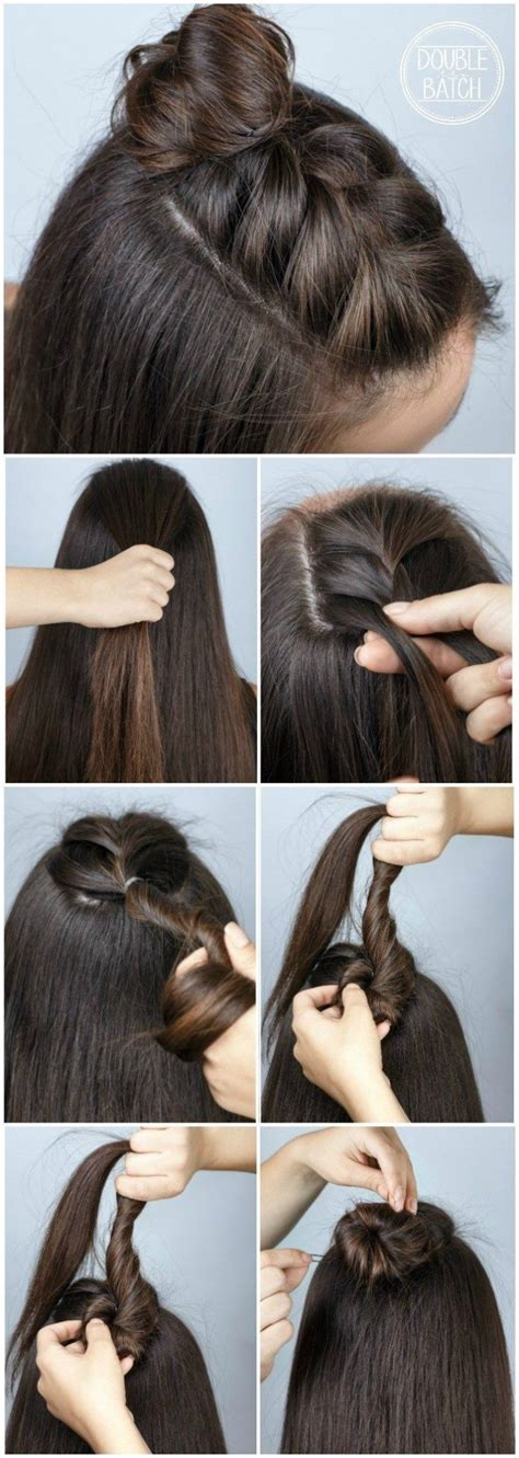 Easy Braided Hairstyles For School by Easy Hair Ideas For School Braid Bun Haircut