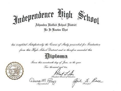 high school diploma certificate template high school diploma template cyberuse