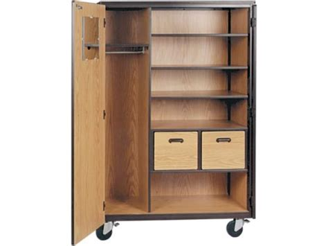 Storage Wardrobe With Shelves by Mobile Wardrobe Storage Closet 3 Shelves 2 Drawers 72 Quot H Irw 1087 Cl Wardrobe Storage Cabinets