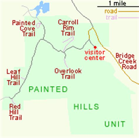 painted oregon map painted unit day fossil beds national monument
