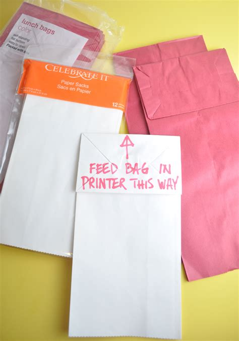 How To Make Paper Goody Bags - how to print on paper bags with free printable club