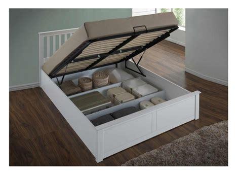 white ottoman bed double flintshire pentre 4ft6 double white wooden ottoman bed by