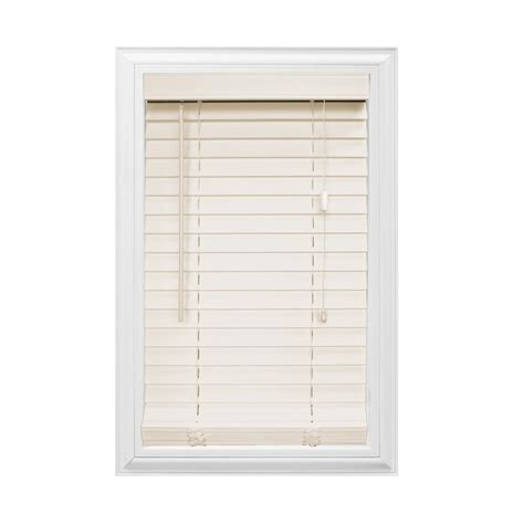 home decorators collection premium faux wood blinds home decorators collection maple 2 1 2 in premium faux