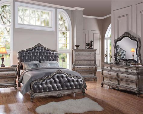 bedroom setting classic style bedroom set chantelle by acme furniture