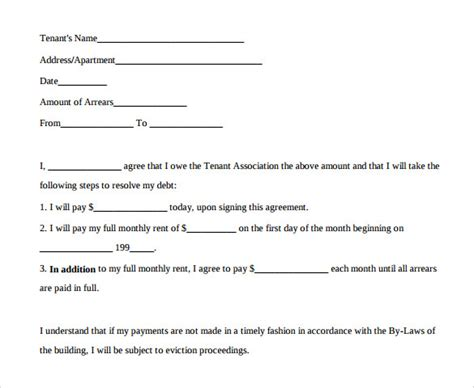 Exle Of Agreement Letter For Payment Sle Payment Agreement 13 Documents In Pdf