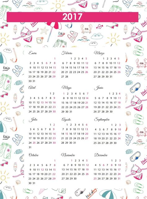 Calendario Para Descargar 2017 Calendarios 2017 Para Ni 241 Os Con Dibujos Para Descargar E