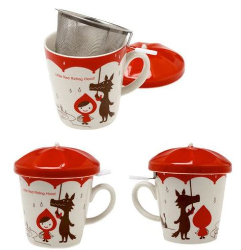 cool cups in the hood this extremely cute little red riding hood umbrella mug cup is great for anybody looking to
