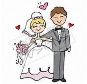 Simple Bride &amp Groom Clipart