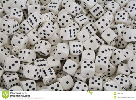 printable dice spots multiple white dice with black spots stock photo image