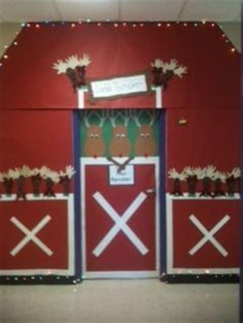 reindeer stable door decoration just b cause