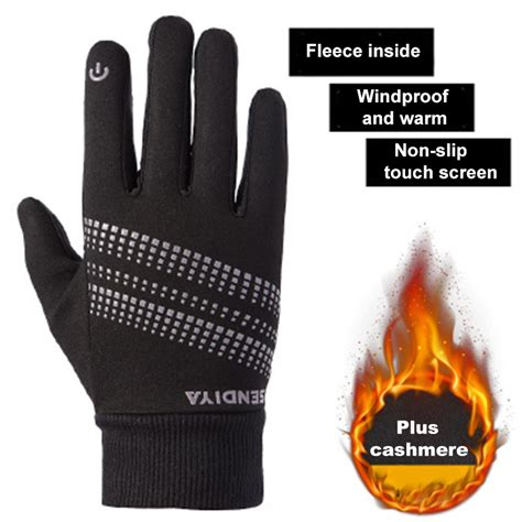 Touchscreen Asiafone Af9909 Black outdoor sports climbing cycling gloves and fleece windproof gloves touch screen gloves