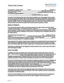 contract for rent to own free printable documents