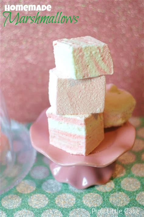 Handmade Marshmallows - pink cake vanilla marshmallows