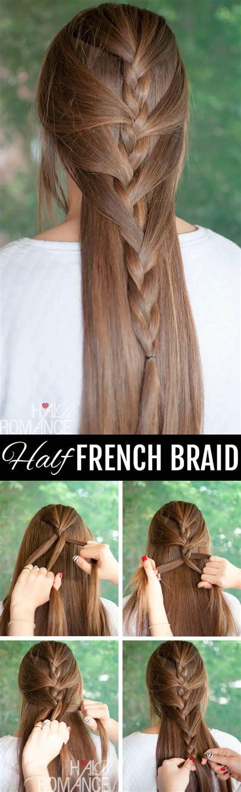 7 Steps To Fabulous Winter Hair by Best 25 Half Braids Ideas On