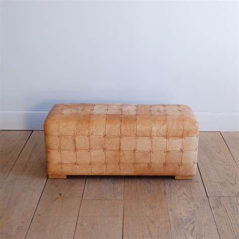 patchwork leather ottoman lawton mull