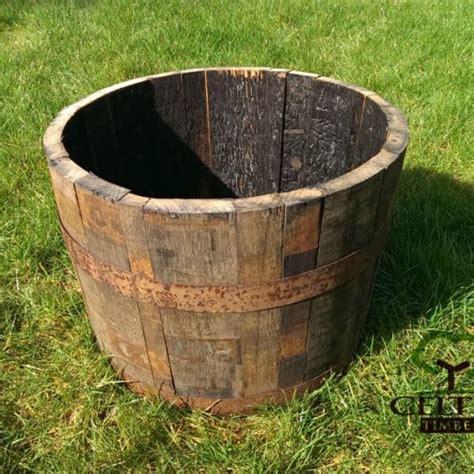 half whiskey barrel planter oak whiskey half barrel planters