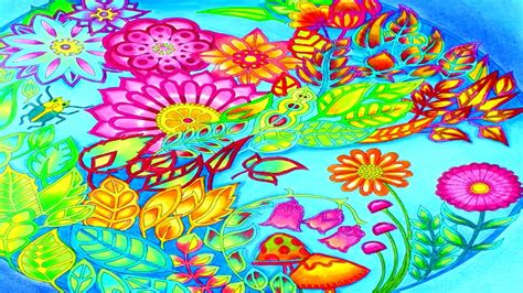 libro el bosque coloreando el bosque encantado burbuja de flores mery youtube
