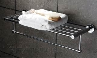 bathroom towel racks with shelves decor your bathroom with luxury hotel towel rack shelf