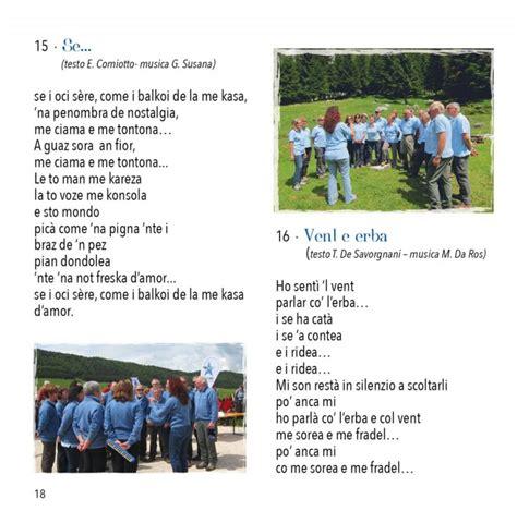 un mazzolin di fiori testo cantamonti nuovo cd coro cai di vittorio veneto