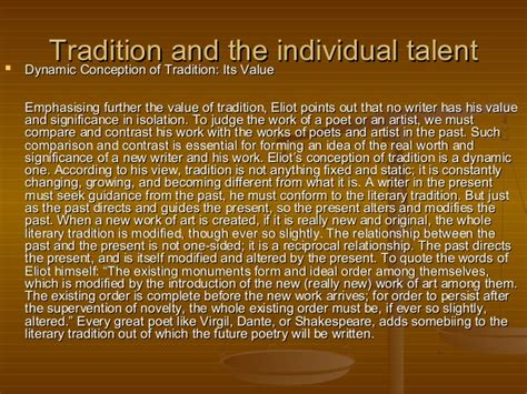 Essays On The By T S Eliot by Ts Eliot Essay Tradition And The Individual Talent Text