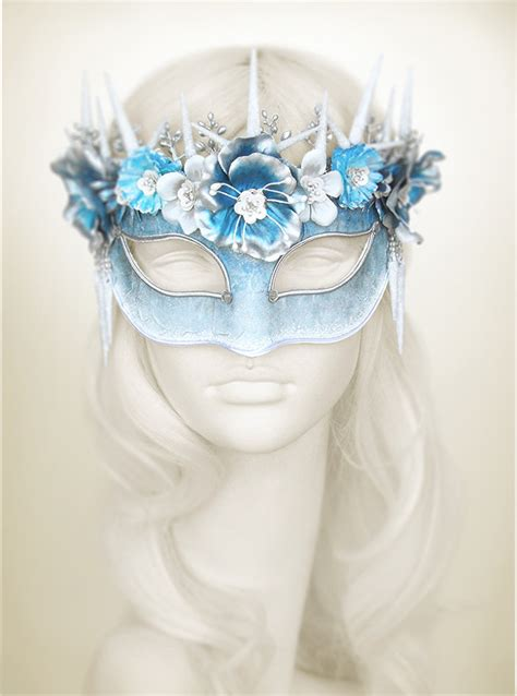 carnival mask themes blue silver white masquerade mask with various