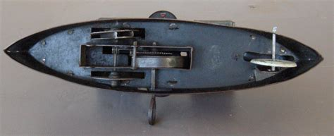 toy boat gun german tin litho wind up gun boat toy dreadnought c1900
