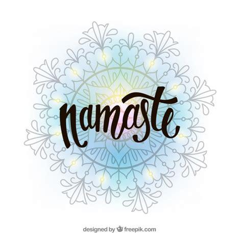 namaste clipart namaste background with decorative mandala vector free