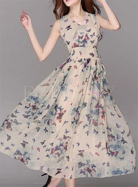 Floral Print A Line Maxi Dress summer chiffon floral print a line maxi dress ezpopsy