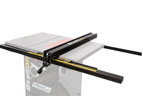 excalibur sliding table saw fence stallion sawing equipment cabinet saws woodworking