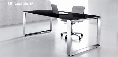 scrivanie in cristallo per ufficio scrivania ufficio vetro struttura cromata