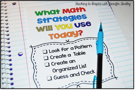 pattern strategy math math problem solving strategies teaching to inspire with