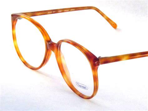 light brown glasses frames big preppy light brown tortoise shell eyeglasses vintage