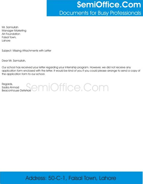 Invoice Misplaced Letter Email For Missing Attachments With Letter