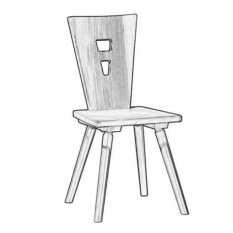sedie grezze legno sedia rustica per cucina in legno grezzo w5182 legno
