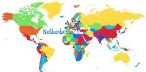 netherlands map image gallery netherlands on world map