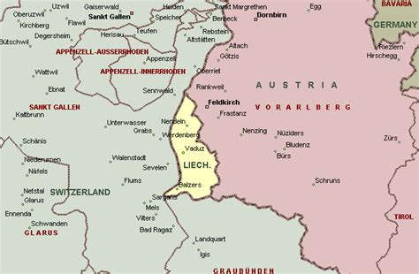 where is liechtenstein on a map liechtenstein map romania maps and views