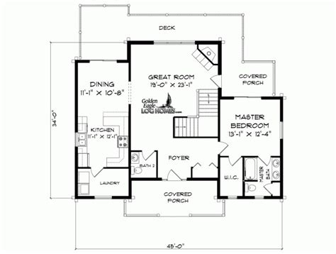 1st floor plan house golden eagle log and timber homes floor plan details