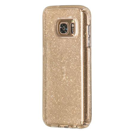 speck candyshell samsung galaxy s7 edge clear gold glitter