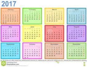 Calendã De 2018 Os Feriados Calendar 2017 Cos Coloridos Pelo M 234 S E Os Feriados