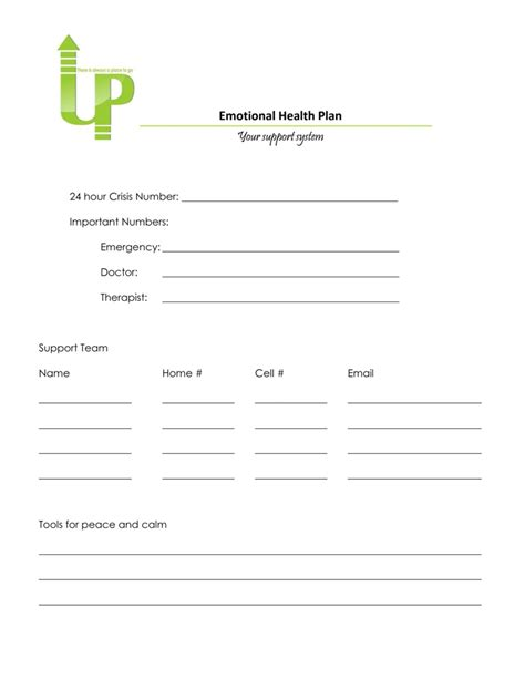 crisis plan template mental health crisis plan template images