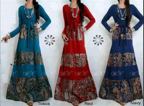 Baju Gamis Yang Bagus model baju gamis batik kombinasi brokat